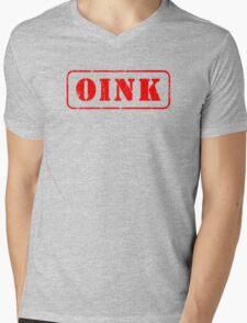 Gay Oink piggy pig Mens V-Neck T-Shirt