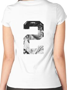 Derek Jeter 2 Women's Fitted Scoop T-Shirt