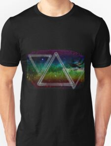 Hipster Triangles Space Unisex T-Shirt