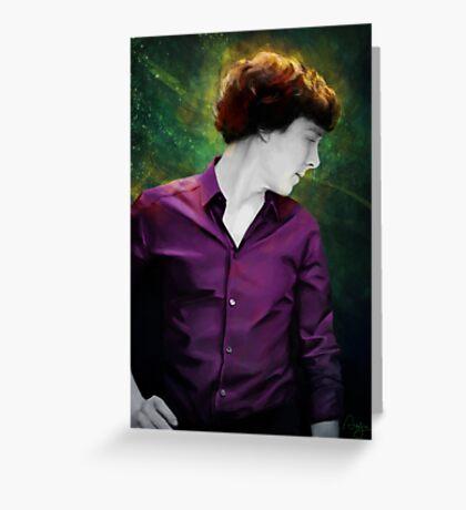 Purple shirt Greeting Card