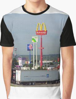 Lincoln, Nebraska - Trucks, Gas and Motels Graphic T-Shirt