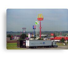 Lincoln, Nebraska - Trucks, Gas and Motels Canvas Print