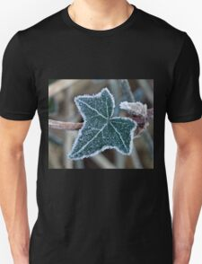 Frost on Ivy Leaf Unisex T-Shirt