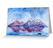 winter highlands - scotland Greeting Card