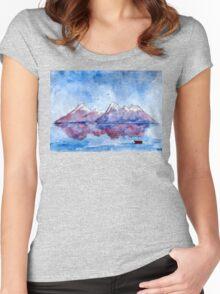 winter highlands - scotland Women's Fitted Scoop T-Shirt