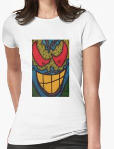 He Only Looks Crazy Womens Fitted T-Shirt
