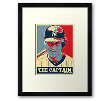 Derek Jeter The Captain OB Framed Print