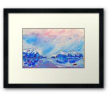winter highlands - scotland  Framed Print