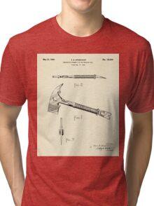 Firemans Axe Patent Print- 1940 Tri-blend T-Shirt