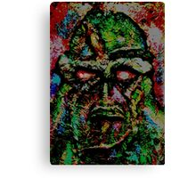 Swamp Monster Comic Canvas Print