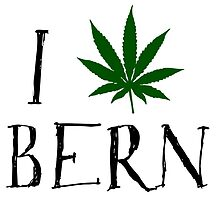 I Love Bern Weed T-Shirt by MrAnthony88