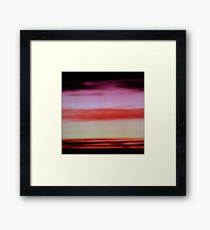 Sunset cloud bands Framed Print