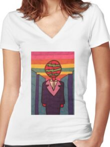 Look Who's Over The Rainbow Now Women's Fitted V-Neck T-Shirt