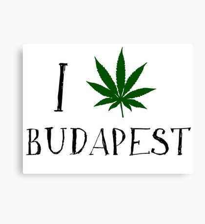 I Love Budapest Weed T-Shirt Canvas Print
