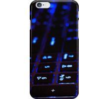 Laptop Blue lights Keyboard iPhone Case/Skin