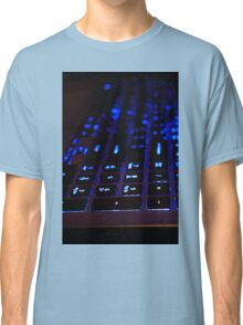 Laptop Blue lights Keyboard Classic T-Shirt