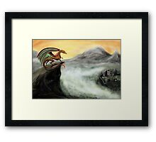 """Guardian of the Valley"" - Digital painting Framed Print"