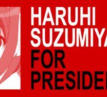 Haruhi for President! Sticker