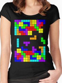 Tetris Making Tetris Fall Women's Fitted Scoop T-Shirt