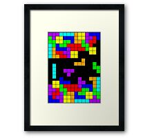 Tetris Making Tetris Fall Framed Print