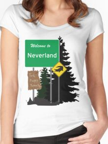 Neverland signs Women's Fitted Scoop T-Shirt