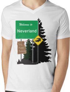 Neverland signs Mens V-Neck T-Shirt