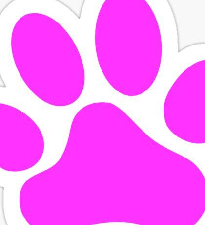 Pink Paw Print Sticker