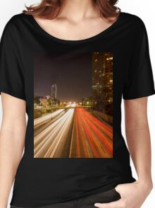 Down Town Los Angeles 101 Highway  Women's Relaxed Fit T-Shirt