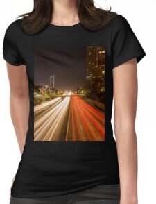 Down Town Los Angeles 101 Highway  Womens Fitted T-Shirt