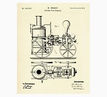 Firemans Steam Fire-Engine Patent Print - 1875 Unisex T-Shirt