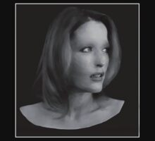 Gillian Anderson - Oil Painting by Presumably