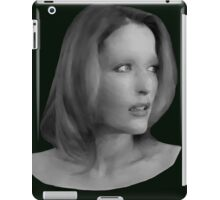 Gillian Anderson - Oil Painting iPad Case/Skin