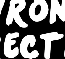 WRONG DIRECTION Sticker