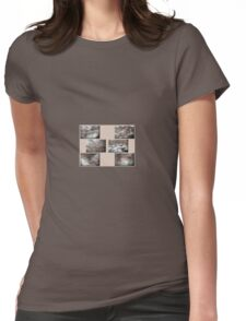 Water Patterns Womens Fitted T-Shirt