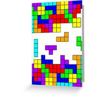 Tetris Making Tetris Fall Greeting Card
