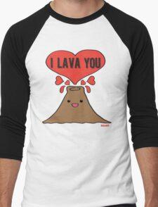Lava Love Men's Baseball ¾ T-Shirt