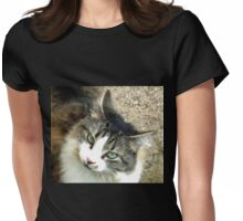 Eyes of Green....Dorset UK Womens Fitted T-Shirt