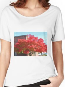 Red Maple Tree Women's Relaxed Fit T-Shirt