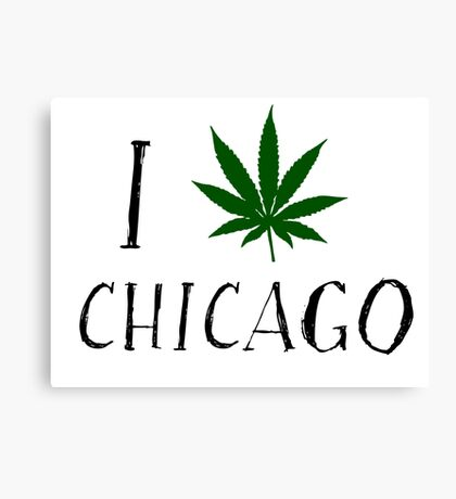 I Love Chicago Weed T-Shirts Canvas Print