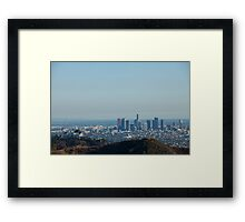 Griffith Observatory Down Town Los Angeles Framed Print