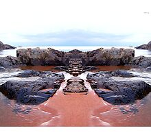 Reflection of Short Rock Photographic Print