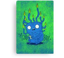 Book Grub Canvas Print