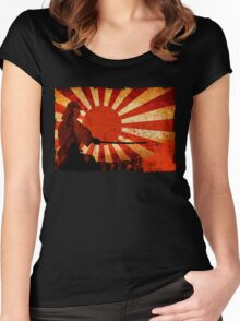 Samurai Sun Women's Fitted Scoop T-Shirt