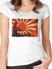 Samurai Sun Women's Fitted Scoop T-Shirt