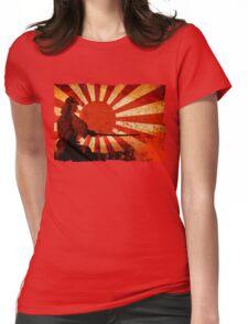 Samurai Sun Womens Fitted T-Shirt