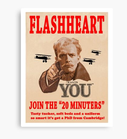 FLASHHEART WANTS YOU Canvas Print