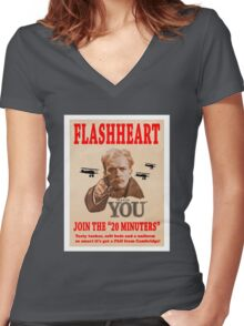 FLASHHEART WANTS YOU Women's Fitted V-Neck T-Shirt