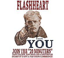 FLASH HEART WANTS YOU (2) Photographic Print