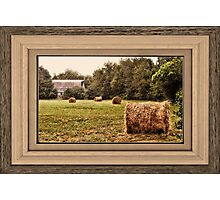"""""""Bales along the Tree Line"""" ...with a matted and framed presentation, for prints and products  Photographic Print"""