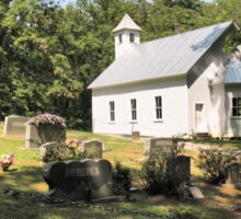 """""""Cades Cove Missionary Baptist Church"""" ... with a canvas and framed presentation for prints and products Sticker"""